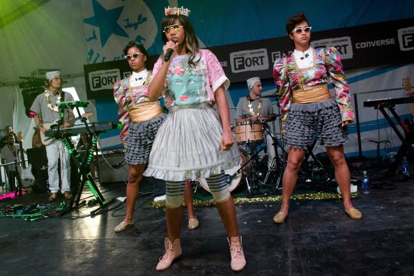 AUSTIN, TX - MARCH 14: Santigold performs at the THE FADER FORT Presented by Converse on March 14, 2012 in Austin, Texas.