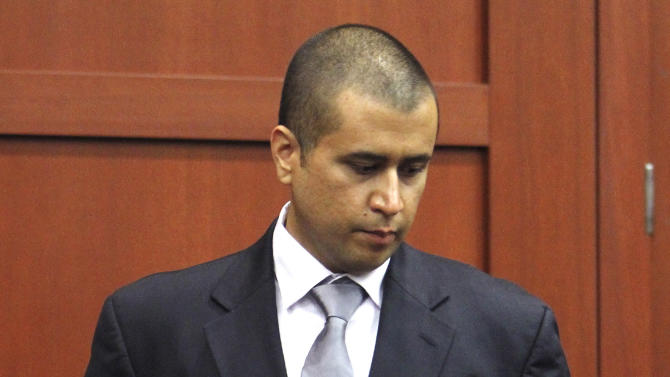 George Zimmerman takes the witness stand Friday, April 20, 2012, during a bond hearing in Sanford, Fla. Circuit Judge Kenneth Lester says Zimmerman can be released on $150,000 bail as he awaits trial for the shooting death of Trayvon Martin. Zimmerman is charged with second-degree murder in the shooting of Martin. He claims self-defense. (AP Photo/Orlando Sentinel, Gary W. Green, Pool)