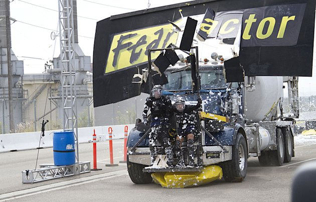 "Truck stunt as seen on ""Fear Factor."""