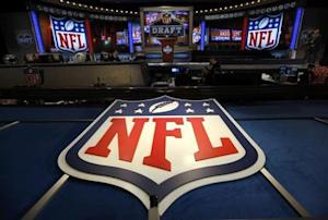 NFL logo and set are seen at New York's Radio City Music Hall before the start of the 2013 NFL Draft
