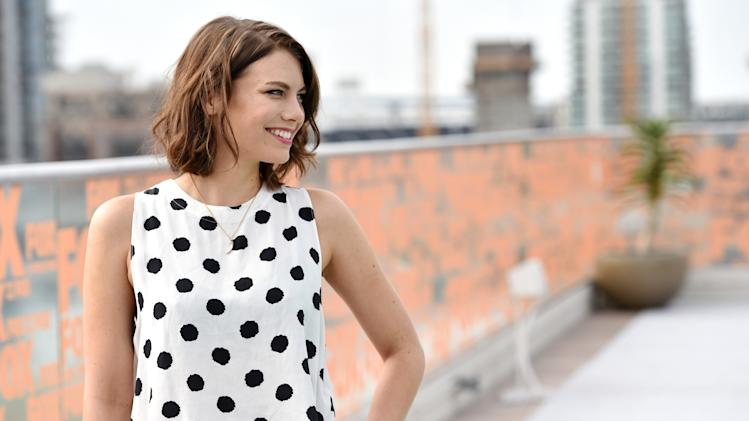 "IMAGE DISTRIBUTED FOR AMC - Lauren Cohan attends AMC's ""The Walking Dead"" breakfast on Day 2 of Comic-Con International on Friday, July 25, 2014, in San Diego. (Photo by John Shearer/Invision for AMC/AP Images)"