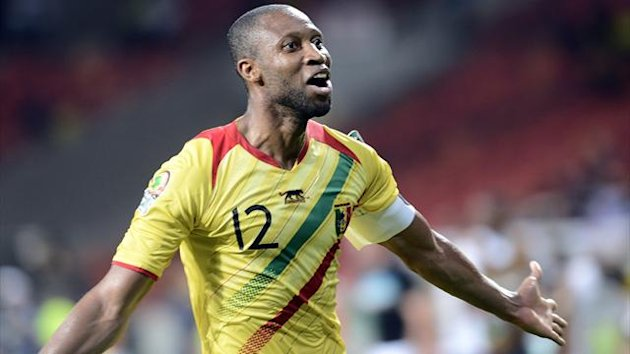 SOUTH AFRICA, Port Elizabeth : Mali&#39;s midfielder Seydou Keita celebrates after scoring a goal against Niger during the 2013 Africa Cup of Nations football match at Nelson Mandela Bay Stadium in Port Elizabeth on January 20, 2013. AFP
