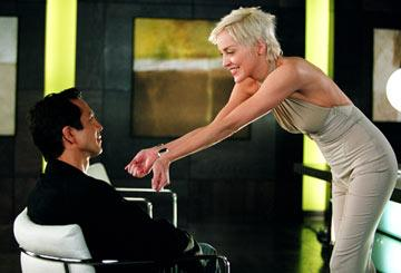 Benjamin Bratt and Sharon Stone in Warner Brothers' Catwoman