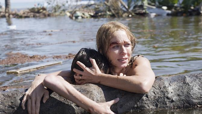 """This publicity film image released by Summit Entertainment shows Naomi Watts in a scene from the film, """"The Impossible."""" (AP Photo/Summit Entertainment, Jose Haro)"""