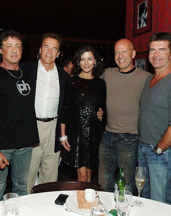 Stallone Schwarzenegger Jones Willis Cowell