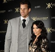 krKris Humphries and Kim Kardashian attend the Kardashian Kollection launch party at The Colony in Hollywood, Calif. on August 17, 2011  -- Getty Premium