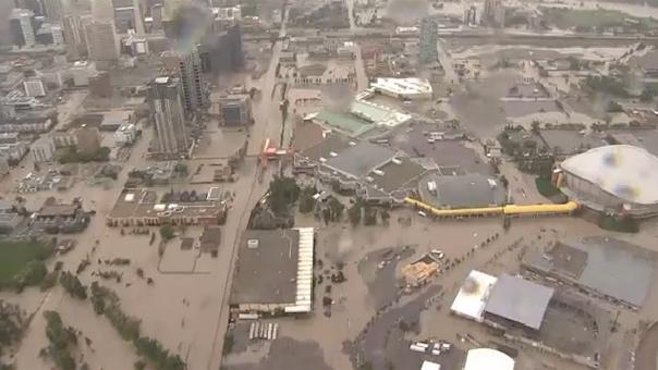 Downtown Calgary Is Almost Entirely Under Water