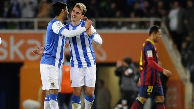 FOOTBALL Liga 2014 Real Sociedad Griezmann