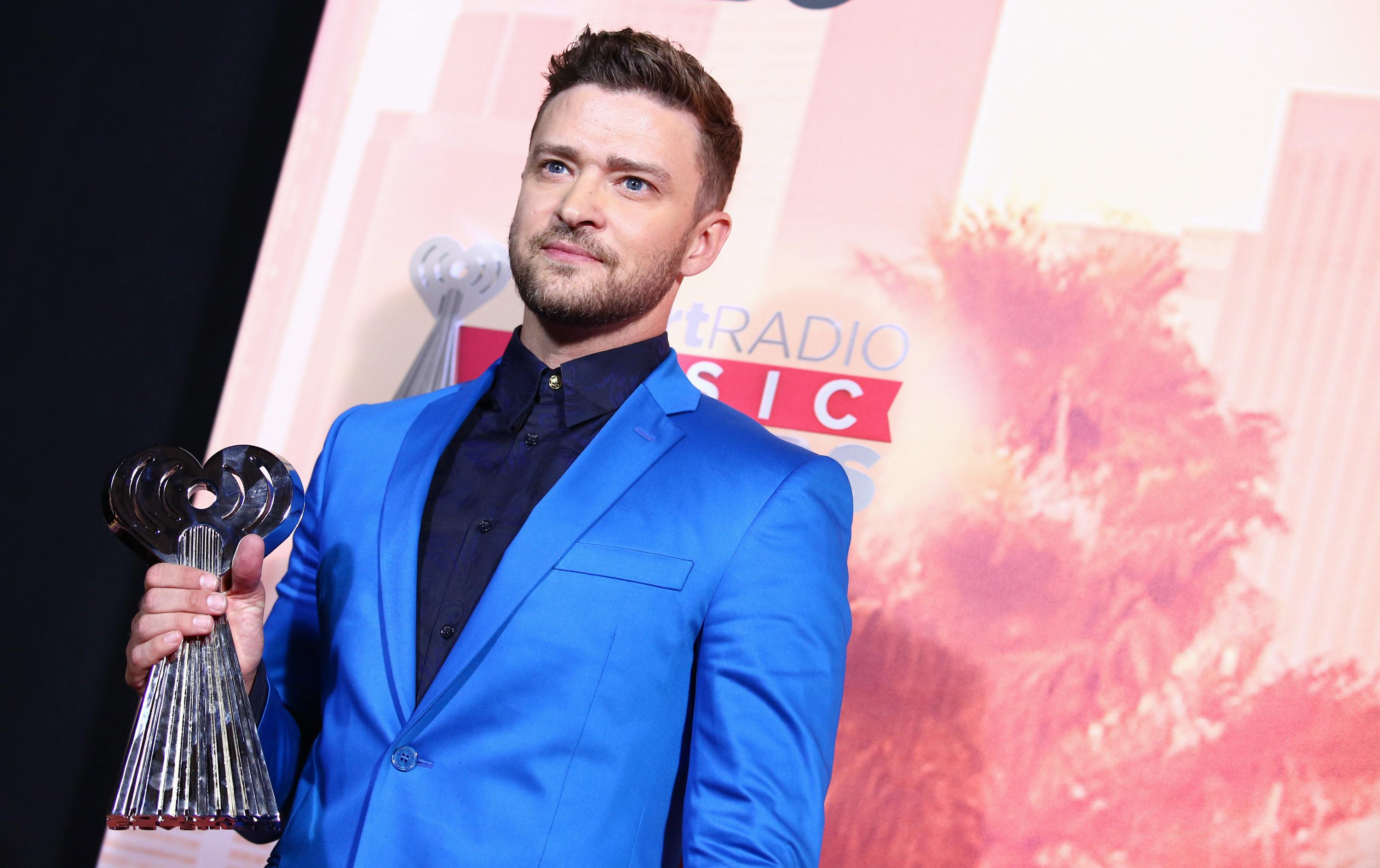 Timberlake offers positive words at iHeartRadio Music Awards