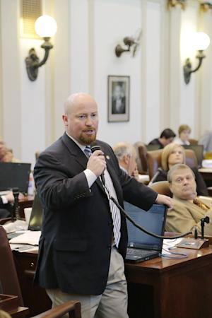 "This March 14, 2013 handout photo provided by the State of Oklahoma's Legislative Service Bureau shows Rep. Joe Dorman at he Oklahoma Capitol on March 14, 2013 in Oklahoma City. Dorman, a Democrat from Rush Springs, said he had grown tired of seeing Oklahoma spending millions of dollars defending its proposed laws in the courts, and suggested a tax form ""check-off"" as a way to draw voters' attention to the costs of legal action. (AP Photo/State of Oklahoma's Legislative Service Bureau)"