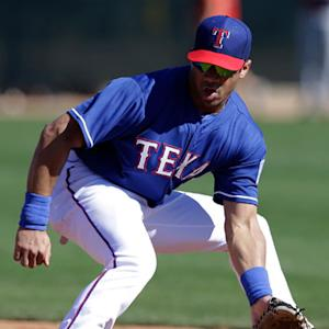Seattle Seahawks QB Russell Wilson practices at Texas Rangers spring training