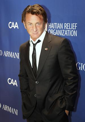 Sean Penn arrives at the 3rd Annual Sean Penn & Friends HELP HAITI HOME Gala on Saturday, Jan. 11, 2014 at the Montage Hotel in Beverly Hills, Calif. (Photo by Colin Young-Wolff /Invision/AP)