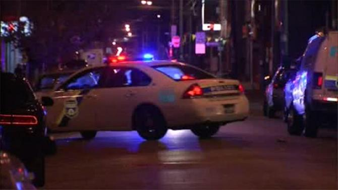 Officer struck by car while chasing shooting suspect in North Philadelphia