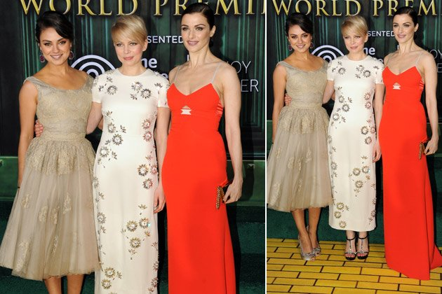 Bezauberndes Trio: Mila Kunis (l.), Michelle Williams (M.) und Rachel Weisz (Bild: Getty Images)