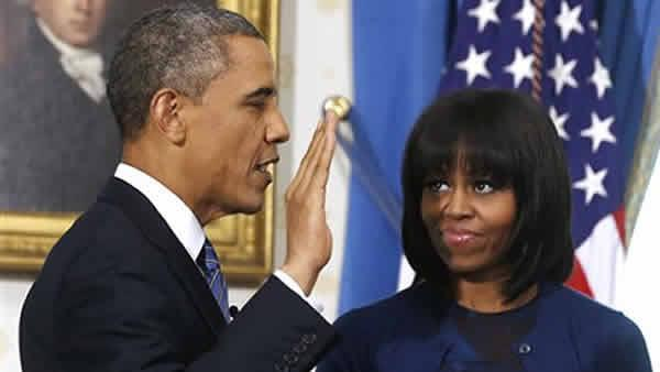 Obama sworn in for 2nd term at White House