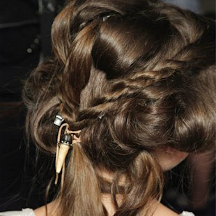 Backstage: Just Cavalli S/S12: In Detail Plait: Hair Ideas: Beauty