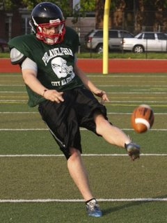 Northeast senior Howard Lynn punts with his left foot — Philadelphia Daily News