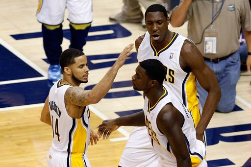 Pacers get even with Miami after 99-92 victory