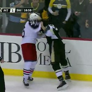 Zach Sill and Corey Tropp scrap