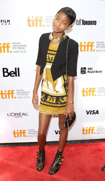 Willow Smith, the pixie-like recording artist daughter of Will Smith and Jada Pinkett-Smith turned up on the red carpet wearing a Versace mini dress with $1,400 Chloe boots. She's eleven.