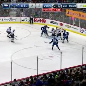 Jake Allen Save on Bo Horvat (03:12/2nd)
