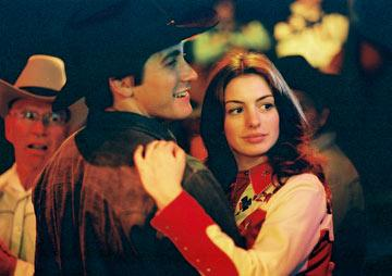 Jake Gyllenhaal and Anne Hathaway in Focus Features' Brokeback Mountain