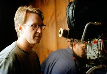 Director David Koepp on the set of Columbia's Secret Window