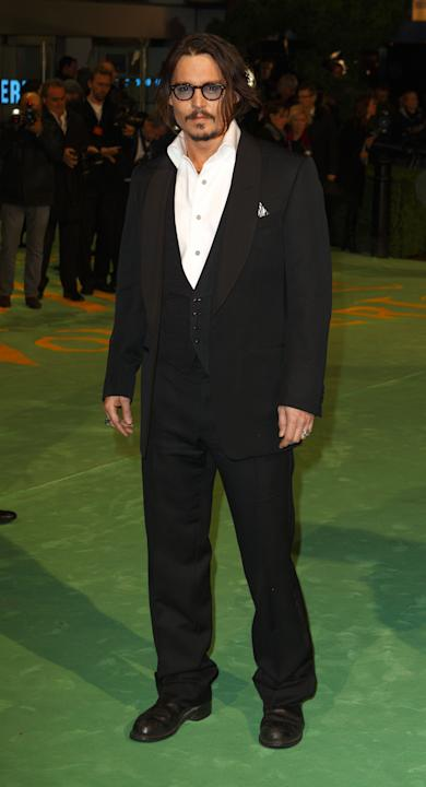 Depp in a three-piece tux