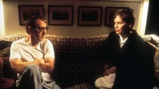 Woody Allen and Mia Farrow in the film Husbands and Wives (1992)