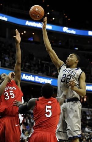 Porter helps No. 10 Georgetown beat Rutgers, 52-50
