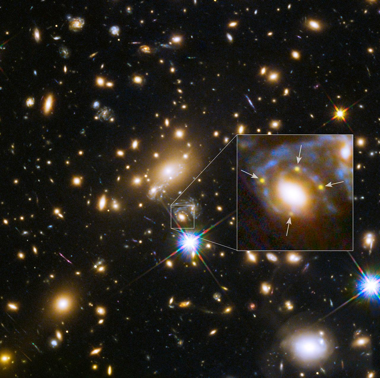 Hubble gave astronomers the rare chance to see the same supernova over and over again