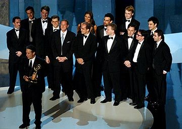 "Jon Stewart and ""The Daily Show"" writers 55th Annual Emmy Awards - 9/21/2003"