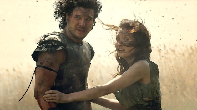 Kit Harrington and Emily Browning 'Pompeii'