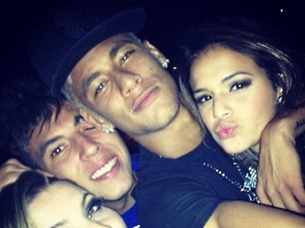 Neymar with friends and family.