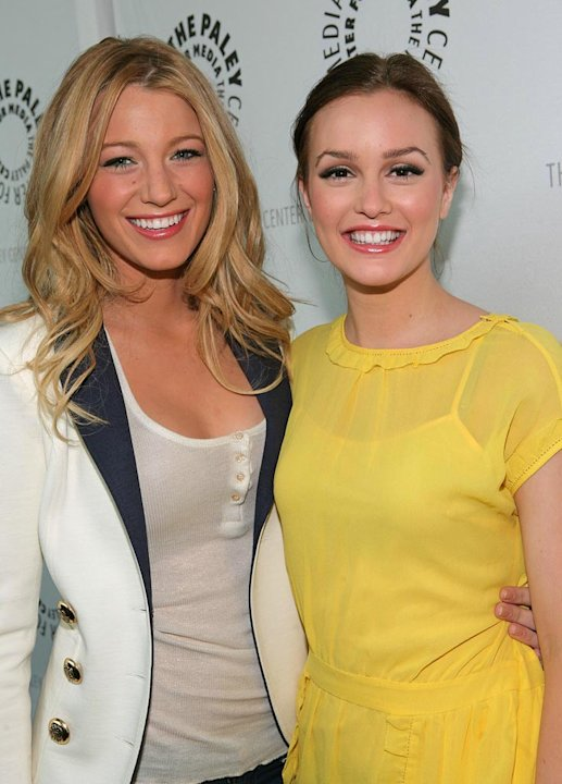 Blake Lively and Leighton Meester arrive at The 25th Annual William S. Paley TV Festival featuring Gossip Girl. - March 22, 2008