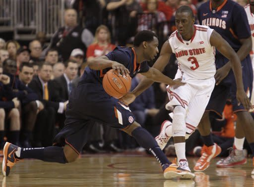 Thomas leads No. 14 Ohio State past Illinois 68-55