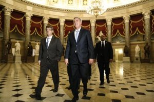 McCarthy walks to the House floor for a series of late-night votes Saturday session at the U.S. Capitol in Washington