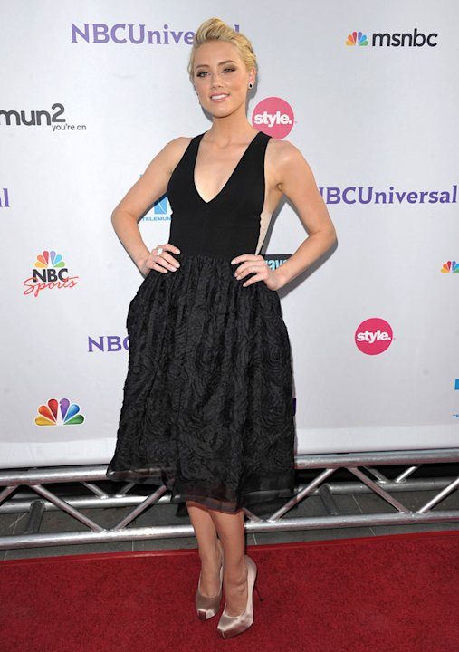 "Amber Heard of ""The Playboy Club"" attends the NBC Universal Summer TCA 2011 All-Star Party at the SLS Hotel on August 1, 2011 in Los Angeles, California."