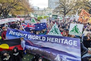 Some 5,000 Tasmanians rally to oppose the delisting …