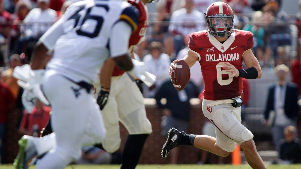 Baker Mayfield's outstanding scrambling is guiding Oklahoma