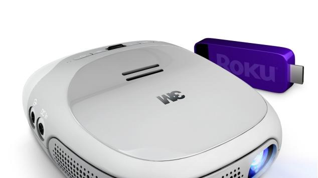 Roku and 3M's portable 'Streaming Projector' can output a 120-inch projection for $299