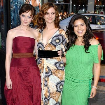 Alexis Bledel , Amber Tamblyn and America Ferrera at the Hollywood premiere of Warner Bros. Pictures' The Sisterhood of the Traveling Pants