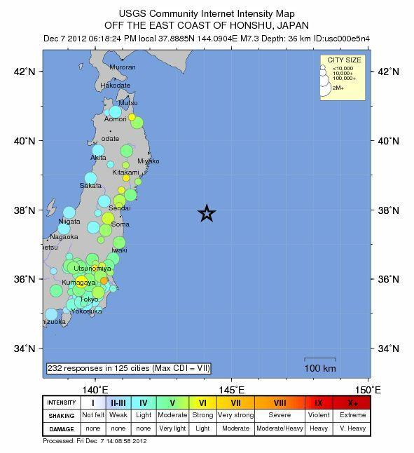 Today's Japan Earthquake Could Be 2011 Quake Aftershock
