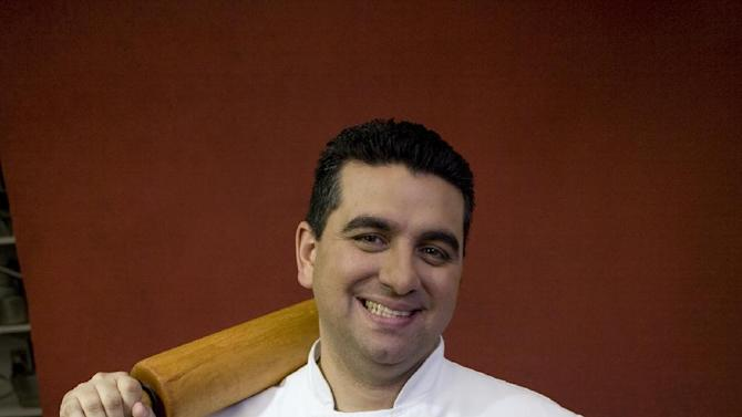 """This undated photo provided by DKC Public Relations shows """"Cake Boss"""" star Buddy Valastro. Valastro says he's long wanted to give fans of his popular TLC reality show an opportunity to taste the cakes viewers watch him bake and decorate at his Hoboken, N.J., bakery. So Valastro gave his recipes to a company that supplies his bakery with goods like sugar and flour to come up with a cake line for bakeries and grocery stores across America. That line rolls out this summer. (AP Photo/DKC Public Relations)"""