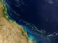 "This satellite image shows Australia's Great Barrier Reef in 2004. UNESCO has urged for action from Australia to protect the Great Barrier Reef from a gas and mining boom, warning it risked being put on its list of world heritage sites deemed ""in danger"""
