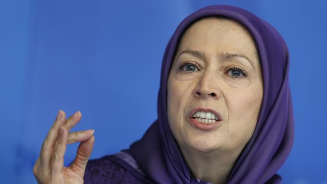 Rajavi, president-elect of the National Council of Resistance of Iran, takes part in a meeting about the challenge of terrorism and extremism, at the Council of Europe in Strasbourg