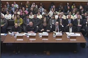Five men sit on a Congressional panel about contraception