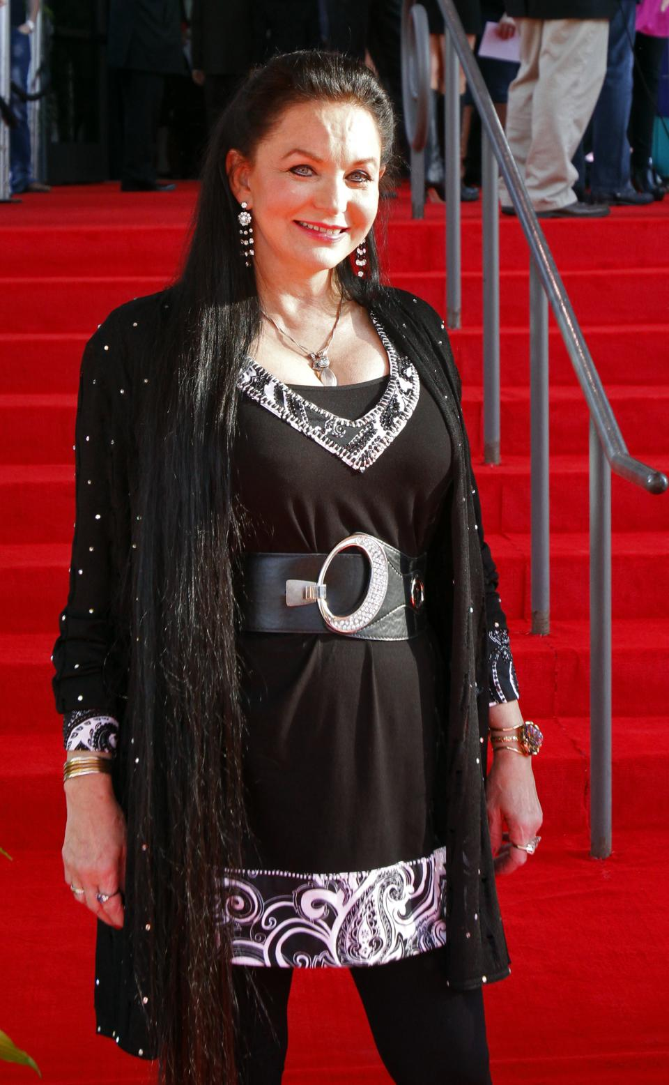 Crystal Gayle attends the Country Music Hall of Fame Inductions on Sunday, Oct. 21, 2012 in Nashville, Tenn. (Photo by Wade Payne/Invision/AP)