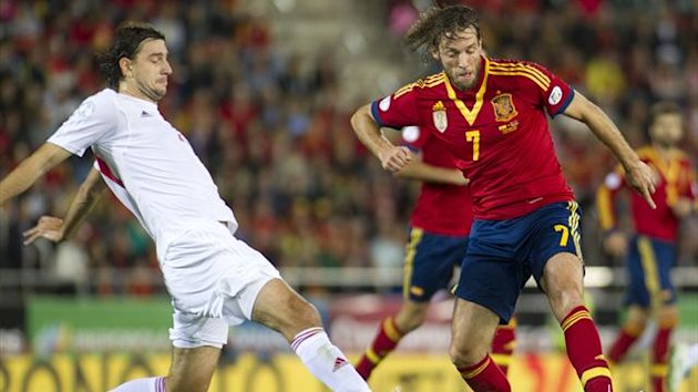 Swansea's Michu makes his Spain debut against Belarus (AFP)