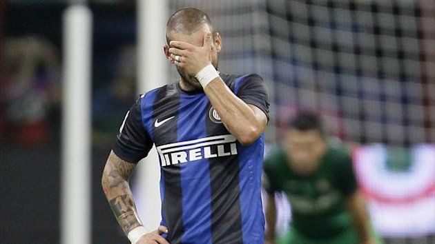 Wesley Sneijder - Inter vs Roma - Serie A 2012-2013 (AP/LaPresse)